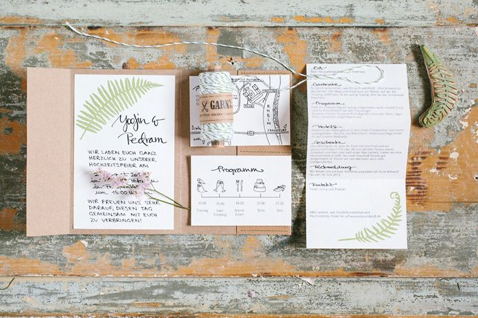 Handgemachte Einladungskarten | Bildpoeten