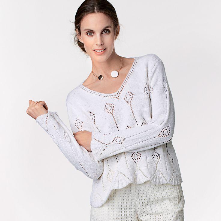Пуловер с ажурным узором. Обсуждение на LiveInternet - Российский Сервис…