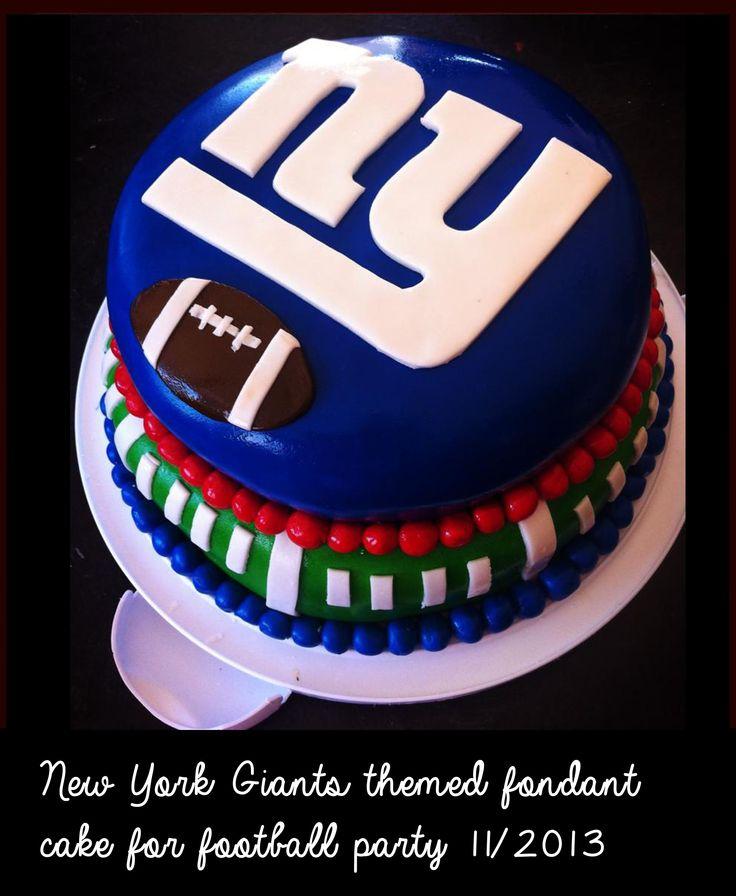 NY Giants Cake #NYGiants #Giants #fondant #cakes