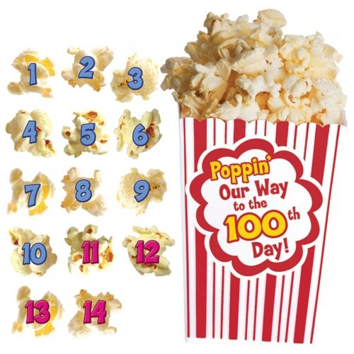 100 Days of Popcorn Bulletin Board Set. Students can pop their way to the 100th day of school with this interactive board. #100thDay