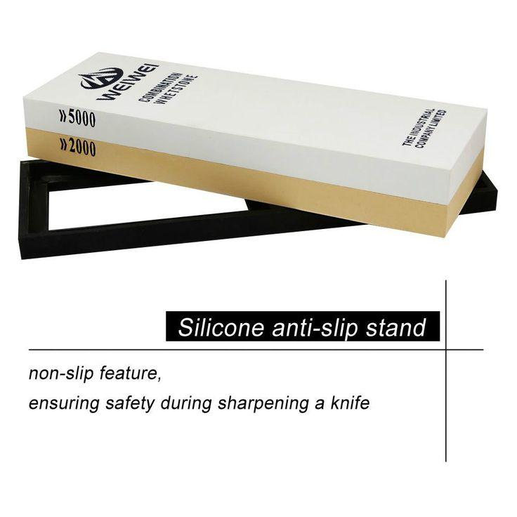 New Kitchen Sharpening Stone 2000/5000 Grit Oilstone Knife Sharpener Razor Whetstone Sharpeners Tools