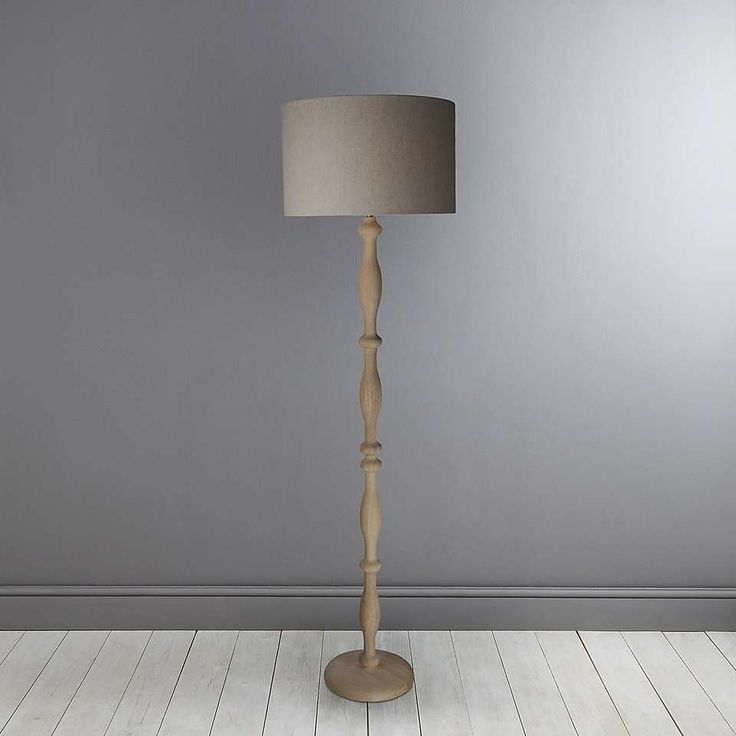 Lilith Carved Wood Floor Lamp | Dunelm