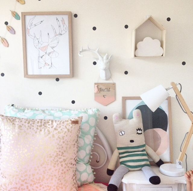 Sweet little girls interior styled by @d_ahhn featuring @yorkelee_kids_prints wall art prints