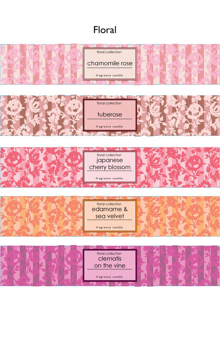 Coloured candle labels                                                       …