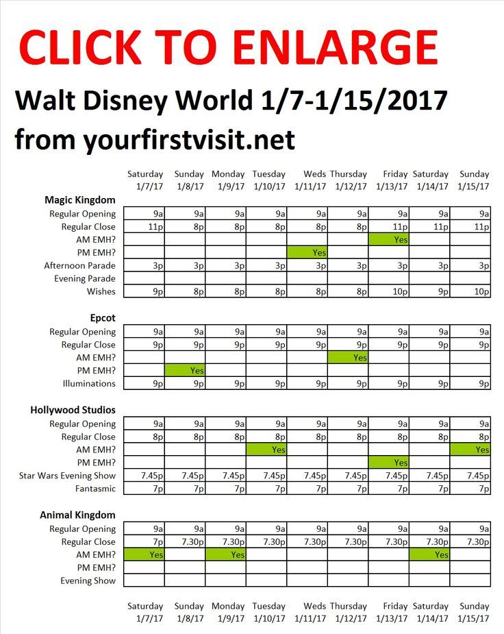 Visiting Disney World from January 7th to the 15th?  This will tell you what to expect in the way of crowds, hours, Extra Magic Hours, etc.