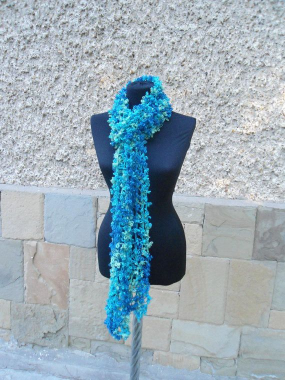 Knitted Shawl, Multicolor Shawl, Woman Scarf, Winter Warm, Elegant Shawl, Women Gift - Knitting creation by etelina   Knit.Community
