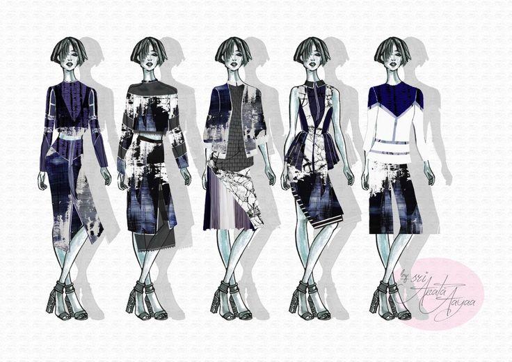 exploring texture #fashiondesign, fashion Sketch,