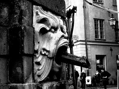 Black and white photography: Gargoyles of Old town