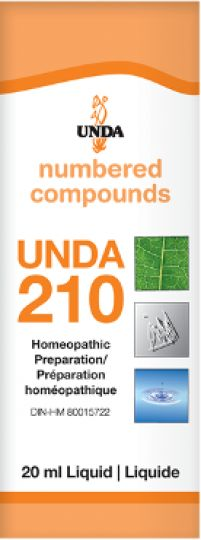 Unda 210 Anxiety, Hyperexcitability This remedy is indicated for hyperexcitability, anxiety, and irritability of hepatic and digestive origin. Unda 210 has an action on the nervous system, the hepatic system, and the cardiac system.