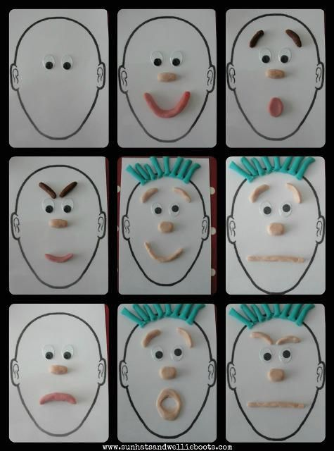 visage et pâte à modeler