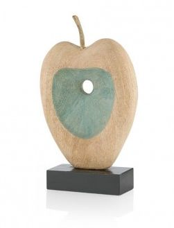 Dit leuke sculptuur 'Apple Scoop' van Youniq is een echt pronkstuk. Mooi voor op de kast of op een zuil. Het sculptuur is gemaakt van hout in combinatie met een blauw tint.
