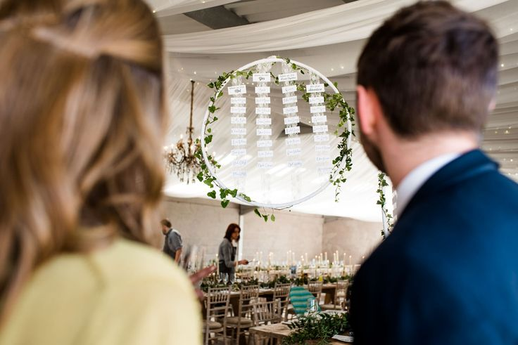 Floral Hoop Table Plan - Rue De Seine Wedding Dress For A Relaxed Wedding At Axnoller Farm With Images From Alice at Babb Photo