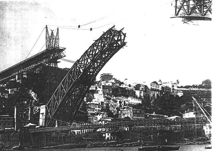 construção ponte Luiz I (Théophile Seyrig) Porto , 1892-96
