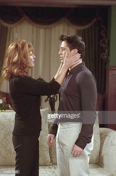 FRIENDS 'The One With Joey's New Brain' Episode 15 Aired 2/15/2001 Pictured Susan Sarandon as Jessica Lockhart Matt LeBlanc as Joey Tribbiani Photo...