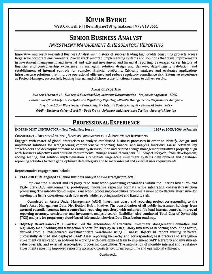 40 sample business analyst resume in 2020 with images