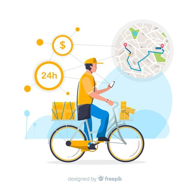 Download Bicycle Delivery Concept With Packages For Free In 2020