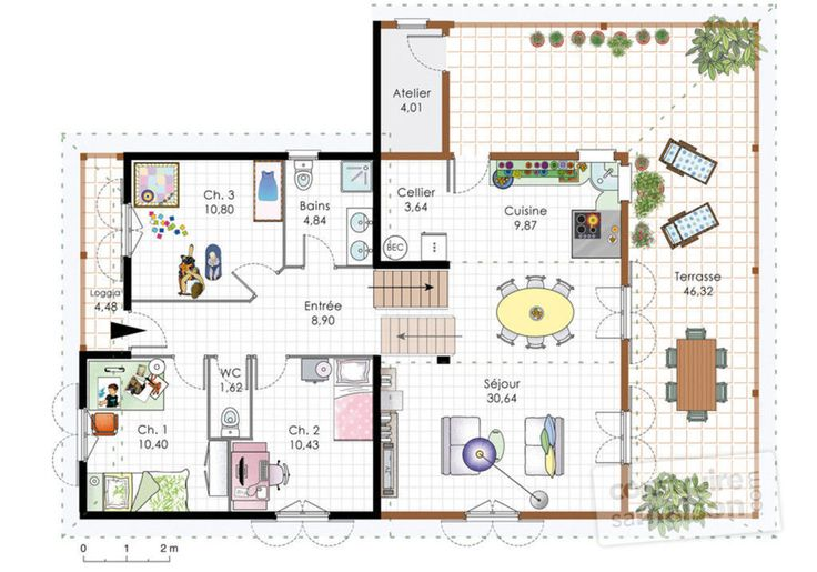 16 best Plan images on Pinterest Mansions, Villa and Villas - Logiciel De Plan De Maison 3d Gratuit