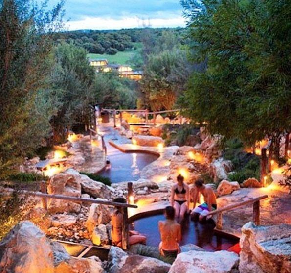 Peninsula Hot Springs near Fingal, Mornington Peninsula, Victoria, Australia. $25 entry if you enter before 9am during off peak times.
