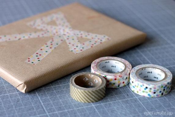 emballage cadeau original et facile/ masking tape