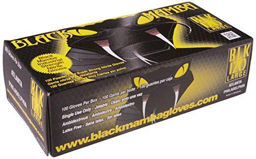 Black Mamba Gloves 100 Pack Medium  NITREX® polymer super strong 6.0 mils