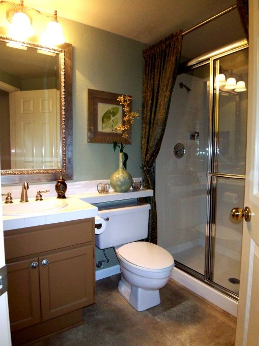 17 best ideas about sliding shower doors on pinterest Small bathroom makeovers