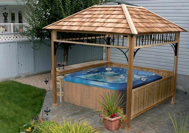 Olt Cedar Spa Shelter 9x9 Hot Tub Gazebo Tub Enclosures Gazebo