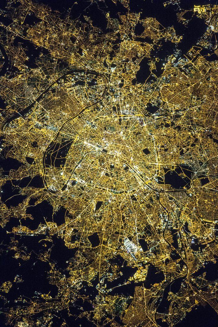 Paris at Night #NASA Image of the day #photograhpy #photooftheday