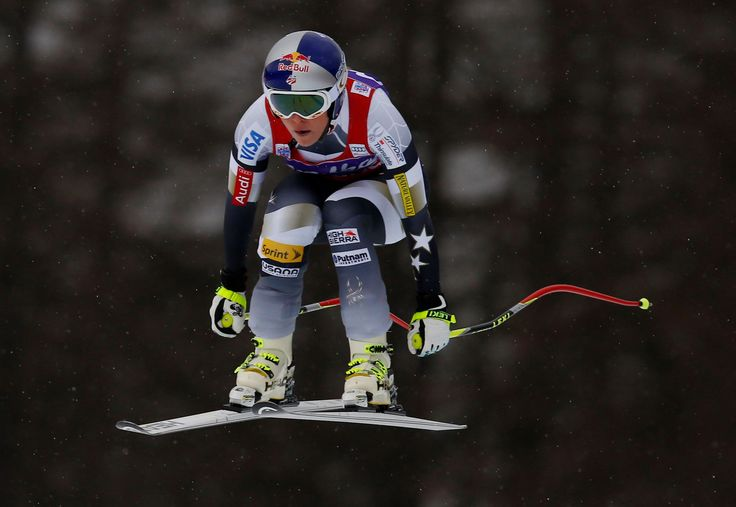 Record run: Vonn matches all-time World Cup wins mark at 62 - Alessandro Trovati/AP Photo