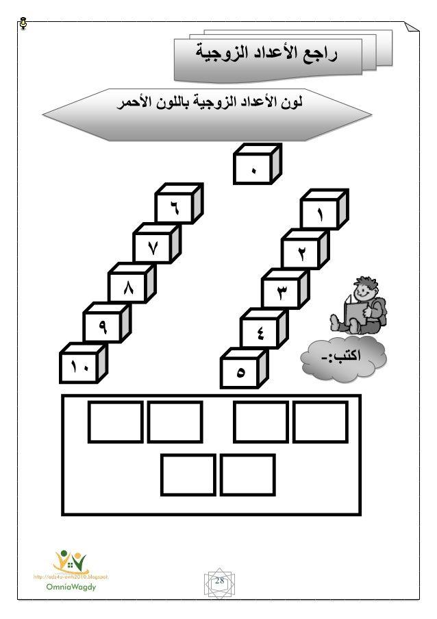 منهج الحساب لثانية حضانة الترم الأول 2015 Apprendre L Alphabet Arabe Alphabet Enfant