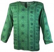 Yoga Hemd, Goa Hemd OM grün