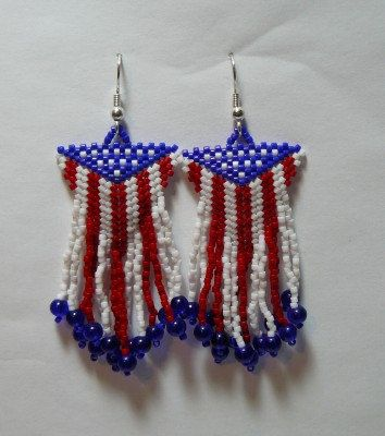 23 best 4th of july images on pinterest bead earrings for Patriotic beaded jewelry patterns