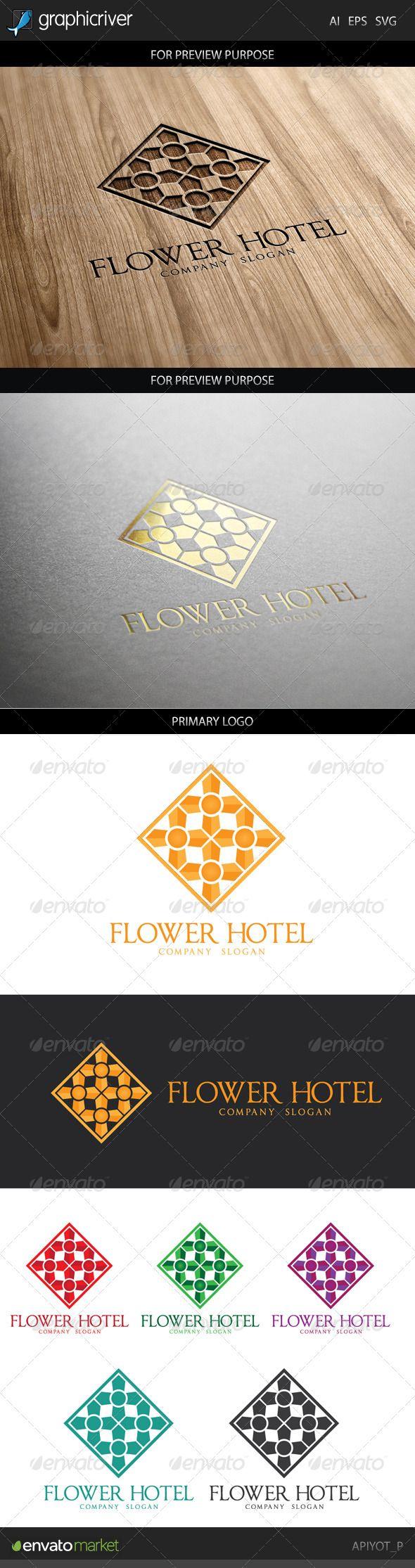Flower Hotel Logo — Vector EPS #plan #learning • Available here → https://graphicriver.net/item/flower-hotel-logo/8748166?ref=pxcr
