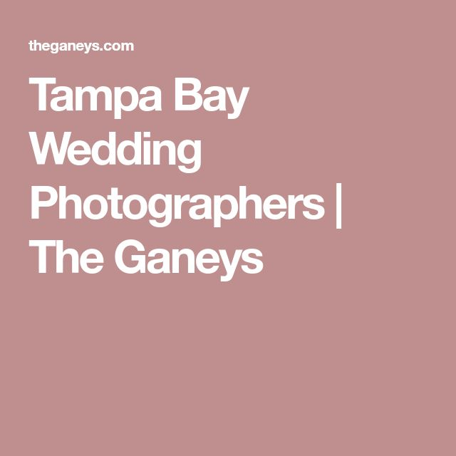 Tampa Bay Wedding Photographers | The Ganeys