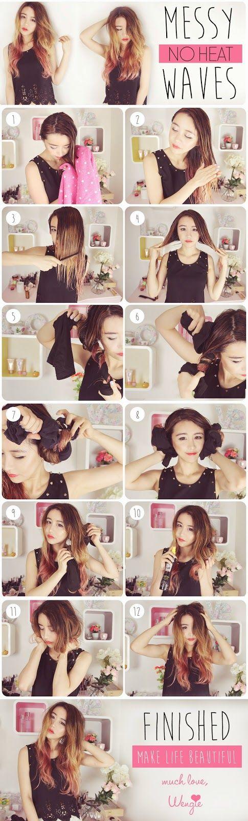 Terrific 1000 Ideas About Overnight Wavy Hair On Pinterest Heatless Short Hairstyles Gunalazisus