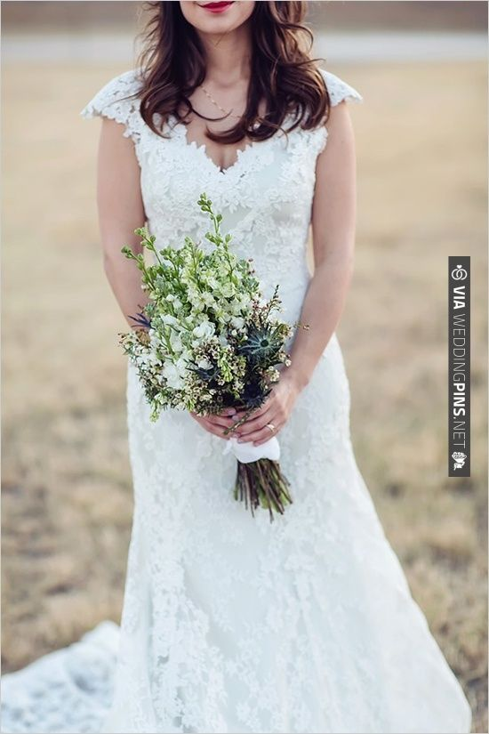 lace wedding gown by Allure Bridals | CHECK OUT MORE IDEAS AT WEDDINGPINS.NET | #bridesmaids