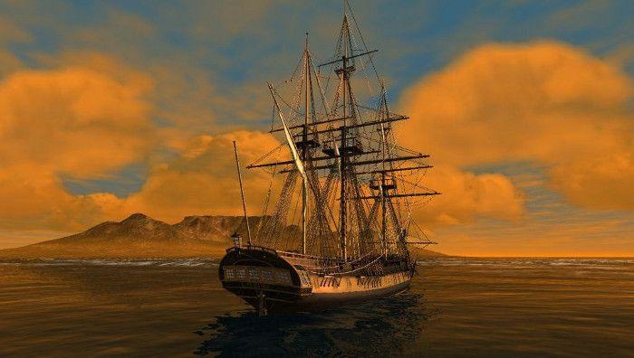 "A virtual ""L'Aurore"" off Cape Town by South African modeller Marius Moolman"