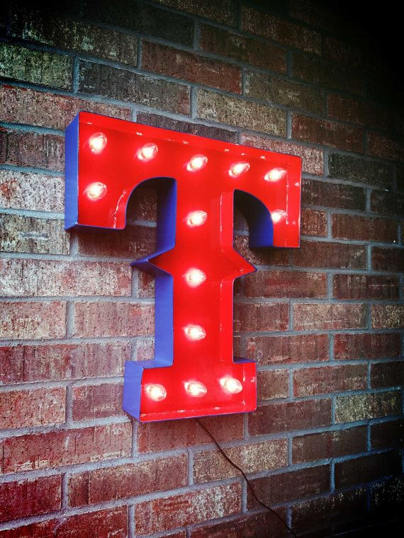 ! #RangerNation. GetLitt Texas Rangers Marquee Sign by GetLitt on Etsy