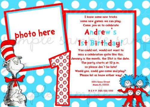 217 best Dr Seuss Birthday Printables images on Pinterest Dr