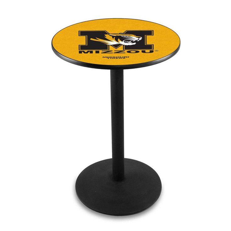 Mizzou Tigers Outdoor Table W/ Black Wrinkle Base