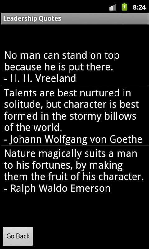 H H Vreeland Talents Are Best Nurtured In Solitude But Character Is Best Formed In Stormy Billows Of The World Johann Wolfgang Von Goethe