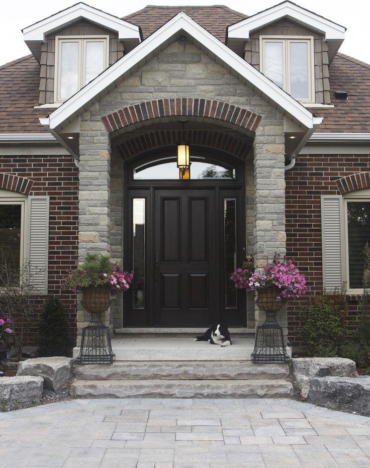 Surprising Front Door Colors Brown Brick Homes Images - Exterior ...