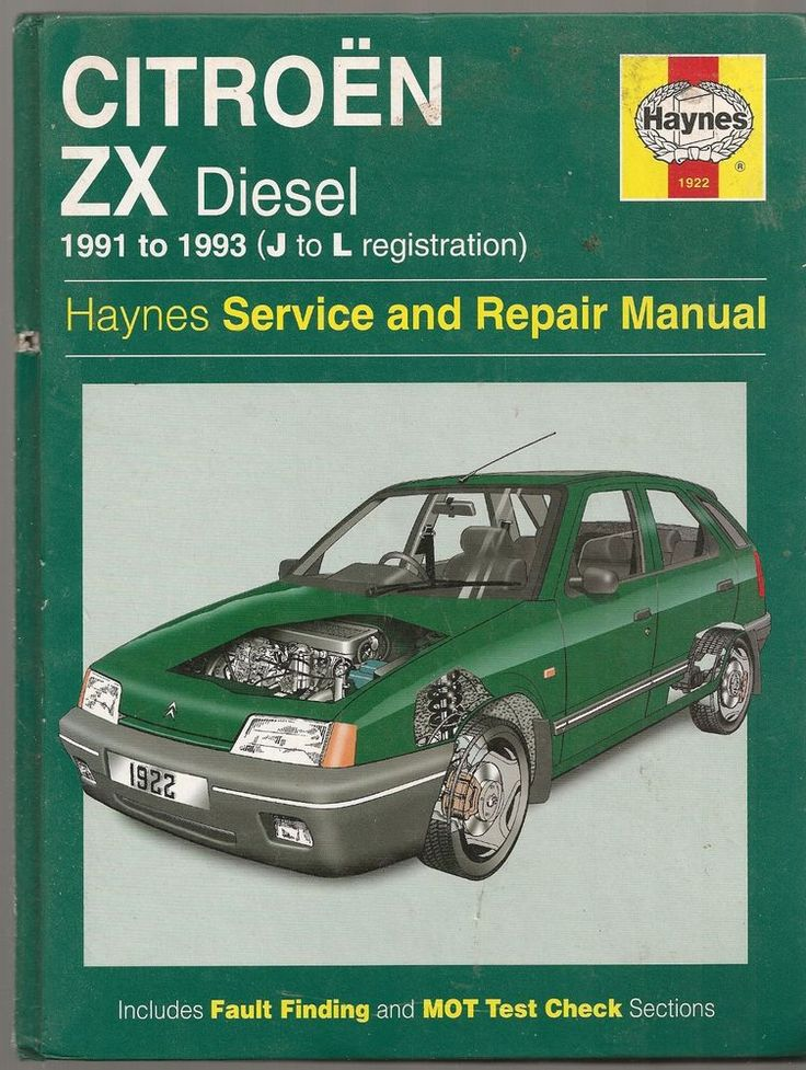 Haynes manual for Citroen ZX Diesel 1991 to 1993 (J to L) in Vehicle Parts & Accessories, Car Manuals & Literature, Citroën | eBay