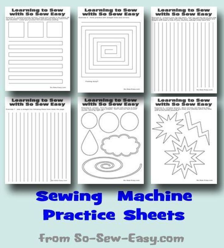 Sewing machine practice sheets | Craftsy