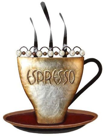 CONTEMPORARY 'ESPRESSO' METAL WALL ART