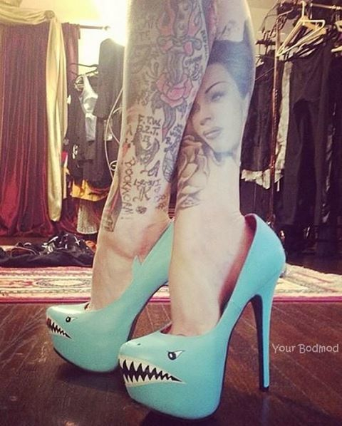 I want these shoes. They might break my ankle but at least they are cute right?!