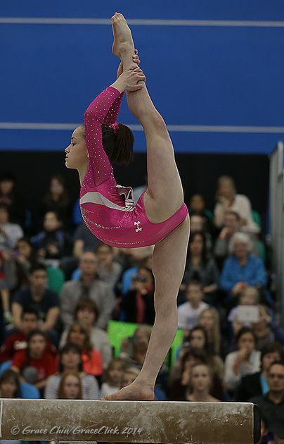 Norah Flatley (United States) on balance beam at the 2014 Pacific Rim Championships