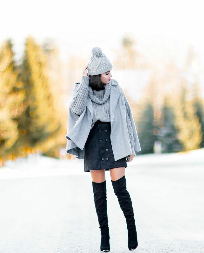 1001 id es quelle tenue d 39 hiver choisir cette ann e tenue hiver jupes courtes et tenues. Black Bedroom Furniture Sets. Home Design Ideas
