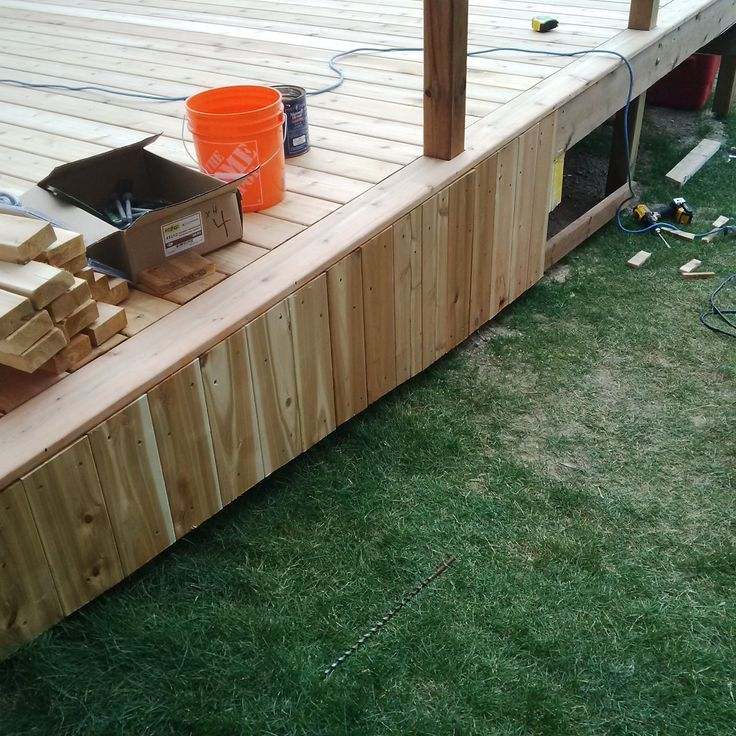 skirting with western red cedar