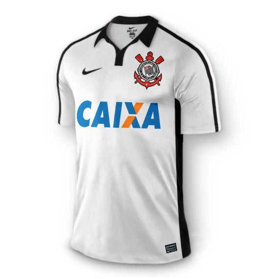 Sport Club Corinthians Paulista - Projeção da camisa do Corinthians de 2015 - Branca