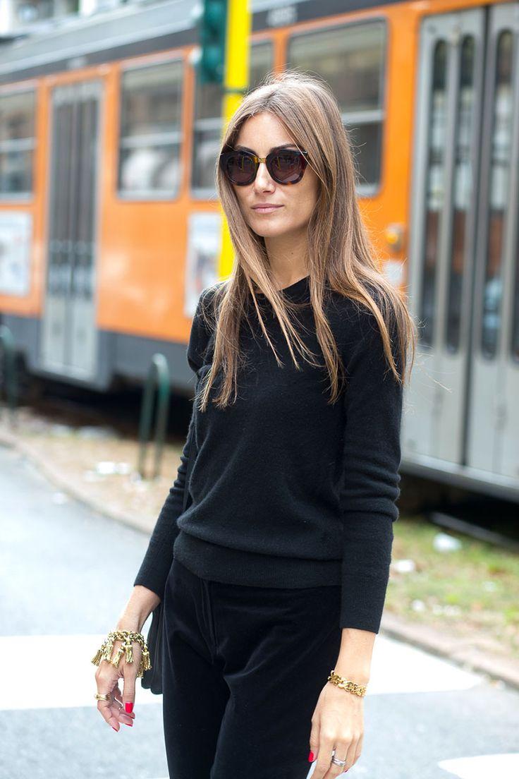 Black with black -- Molto Bella: Milan Street Style